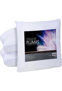 Kit Com 4 Travesseiros Pluma De Ganso 50Cm X 70Cm Sortido - Tessi - Tricae