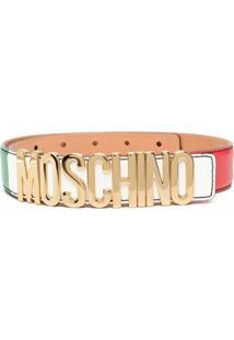 Moschino Jaqueta Color Block Com Placa De Logo - Vermelho