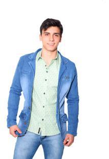 Blazer Jeans Victor Deniro Azul Scagli