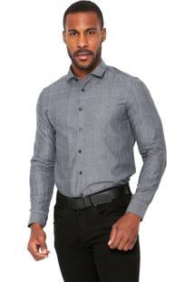Camisa Aramis Manga Longa Super Slim Cinza