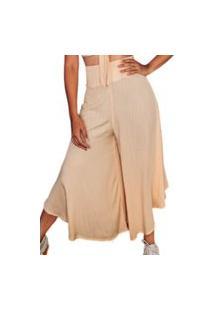 Calça Pantalona Feminina Cintura Alta Soltinha Linho Moda