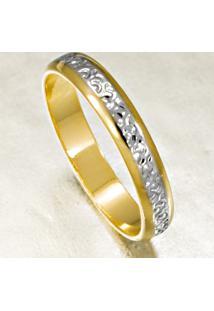 Aliança De Ouro Novado Fosco E Liso Com Diamantes - As0598 + As0626 Casa Das Alianças