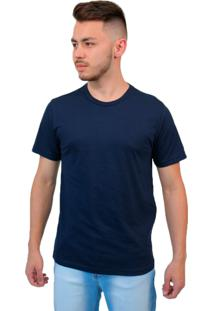 Camiseta Manga Curta Baiki Badhai Gola Redonda Azul Marinho