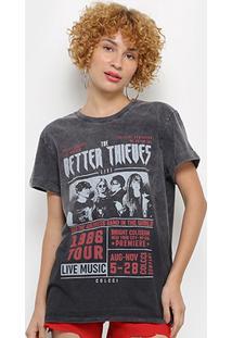 Camiseta Colcci Rock Band Feminina - Feminino