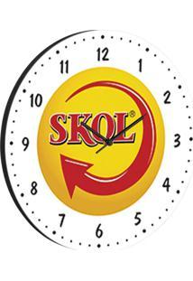 Relógio De Parede Skol Branco