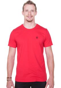 Camiseta Animalia Bordado Vermelho