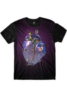 Camiseta Bsc Coração De Máquina Motor Roxo Sublimada Masculina - Masculino-Roxo