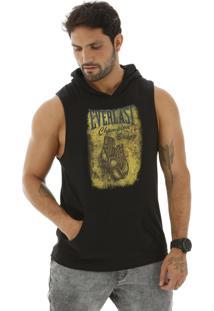 Camiseta Machão Everlast Com Capuz