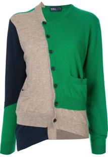 Kolor Cardigan Com Patch - Verde