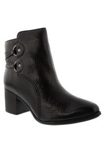 Bota Ankle Boot Bottero Salto Bloco Preto