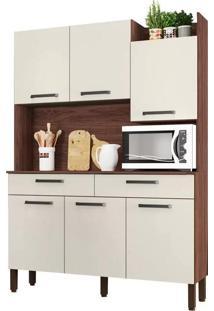 Cozinha Compacta Kit'S Paraná Modena, Nogueira E Off White