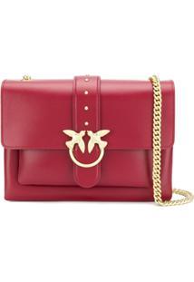 Pinko Large Love Crossbody Bag - Vermelho