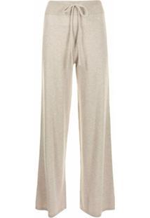 Lisa Yang Calça Pantalona De Cashmere Com Ajuste No Cós - Neutro