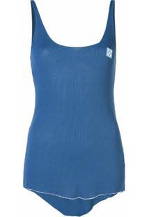 Off-White Regata Com Patch De Logo - Azul