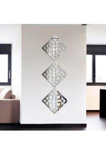 Espelho Decorativo Kit Ladrilho Quadrado