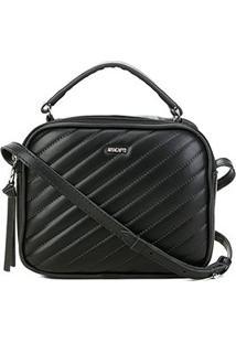 Bolsa Anacapri Mini Bag Eco Matelassê Feminina - Feminino-Preto