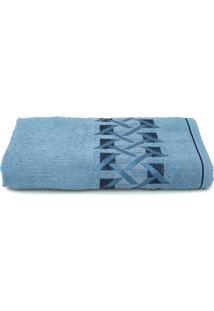 Toalha De Banho Karsten Duarte Azul Crepusculo 70X140Cm