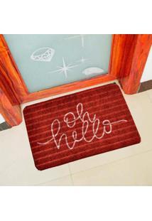 Capacho Carpet Oh Hello Vermelho