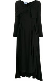 Prada Vestido Maxi Envelope - Preto