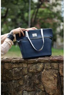 Bolsa De Couro Jade Azul