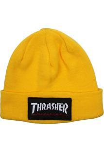 Touca Thrasher Magazine Logo Patch Amarela