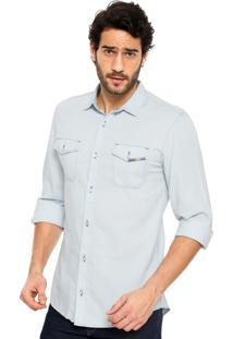 Camisa Jeans Sommer Bolsos Azul