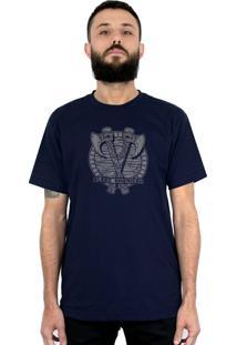 Camiseta Bleed American Axes Azul Marinho