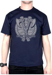 Camiseta Bleed American Suiones Shield Marinho