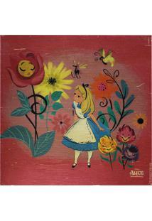 Quadro Decorativo Alice® - Rosa Escuro & Azul - 20X2Zona Criativa