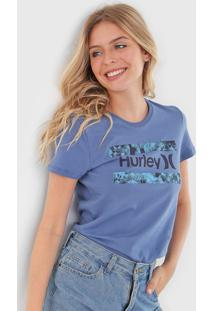 Camiseta Hurley Free Flower Azul