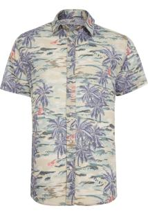 Camisa Masculina Hawaii - Verde