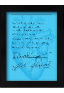 Quadro Porta Lembranças - Casamento Meredith E Derek - Grey'S Anatomy L3 Store