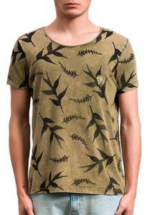 Camiseta Salt 35G Amazon Dupla Face Masculina - Masculino-Verde