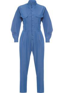 Macacão Feminino Jumpsuit Soft Jeans - Azul