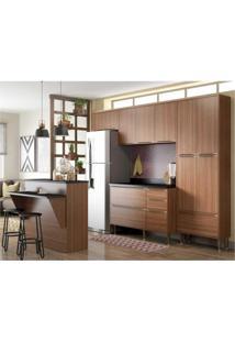 Cozinha Completa Multimóveis Com 6 Peças Calábria 5464 Nogueira