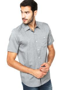 Camisa Volcom Everett Cinza
