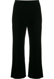 Kenzo Cropped Knitted Trousers - Preto