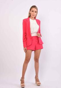 Casaco Vanibele Blazer Pink - Pink - Feminino - Dafiti
