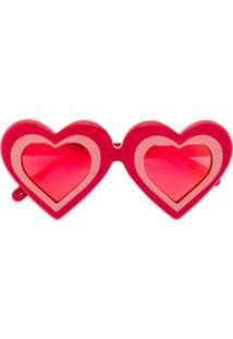 Yazbukey Óculos De Sol 'Heart' - Vermelho