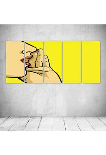 Quadro Decorativo - Speak Woman - Composto De 5 Quadros - Multicolorido - Dafiti