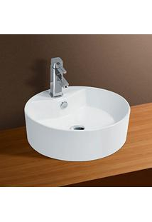 Cuba De Apoio Banheiro Lavabo Sobrepor Redonda De Porcelana Cerâmica Louça C277 - Premierdecor