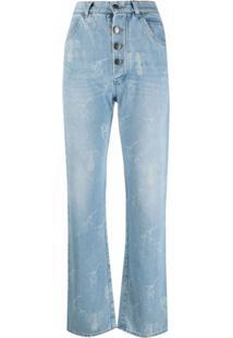 Seen Users Calça Jeans Cintura Alta Com Detalhe De Laço - Azul