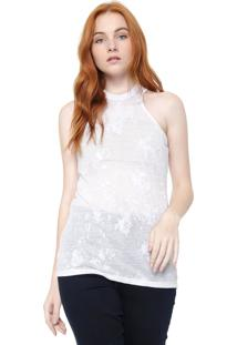 Regata Calvin Klein Jeans Devorê Branca