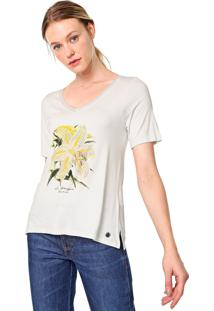 Blusa Dudalina Flor Bordada Botanique Off-White