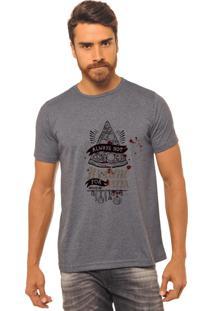 Camiseta Chumbo Estampada Masculina Joss - Always Hot