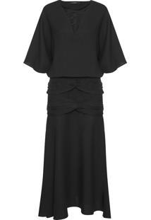 Vestido Bebek Nó - Preto