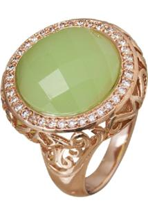 Anel Le Diamond Pedra Jade Verde - Verde - Feminino - Dafiti