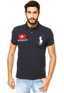 Camisa Polo Ralph Lauren Suiça Azul