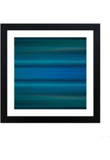 Quadro Decorativo Blue 33X33Cm Preto Infinity