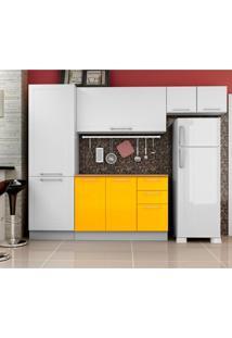Cozinha Compacta Play 8 Pt 2 Gv Branca E Amarela
